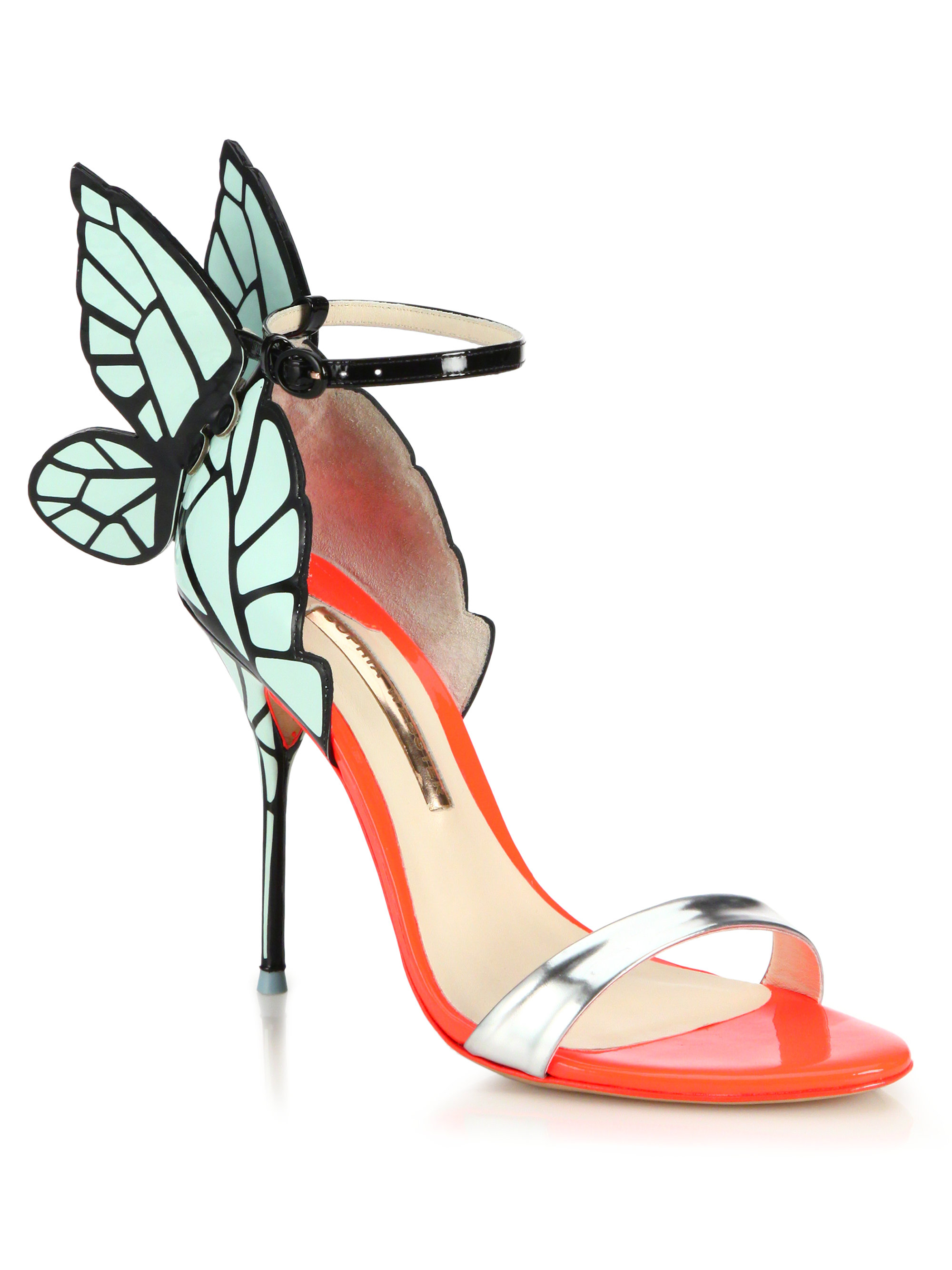 920d69646ff2 Lyst - Sophia Webster Chiara Butterfly Patent Leather Sandals in Green