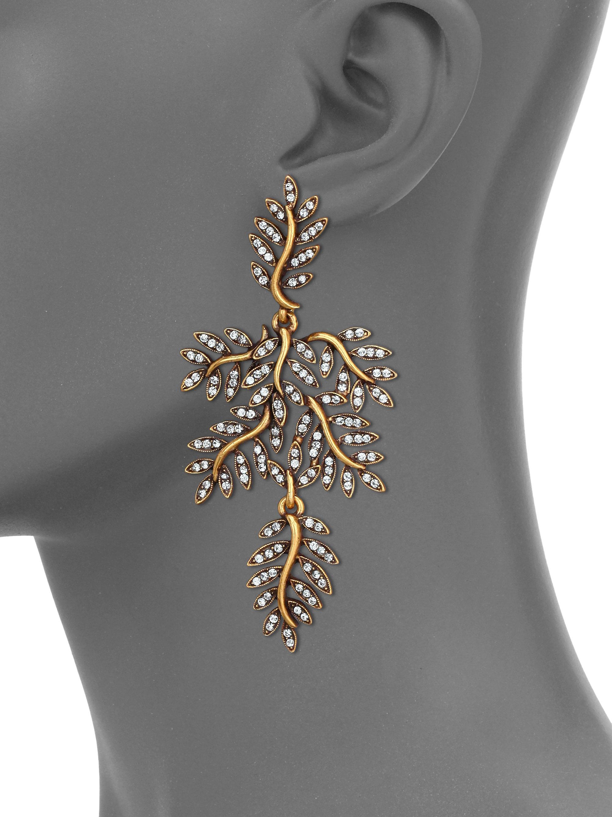 Oscar De La Renta Silk Double Hoop Clip-On Earrings kJB63
