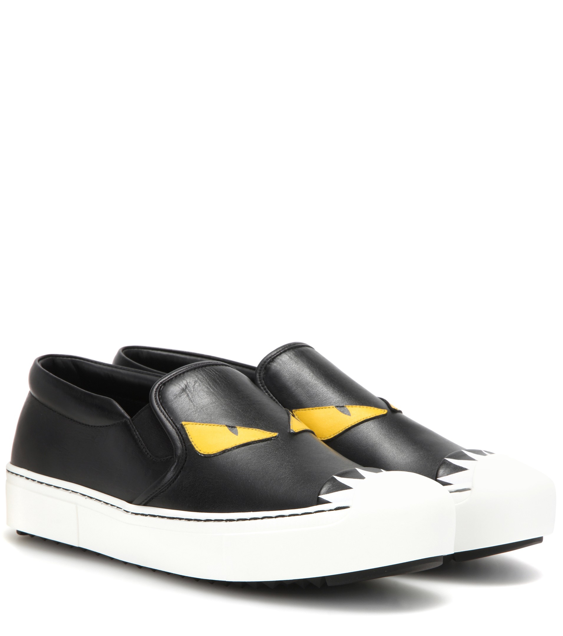 Fendi Patent Leather Monster Shoes