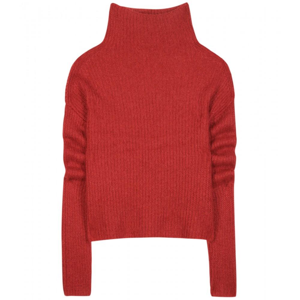 haider ackermann turtleneck sweater in brown lyst. Black Bedroom Furniture Sets. Home Design Ideas