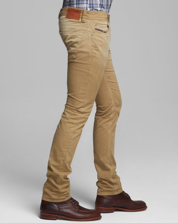 Diesel Jeans Thavar Slim Fit in Tan in Brown for Men | Lyst