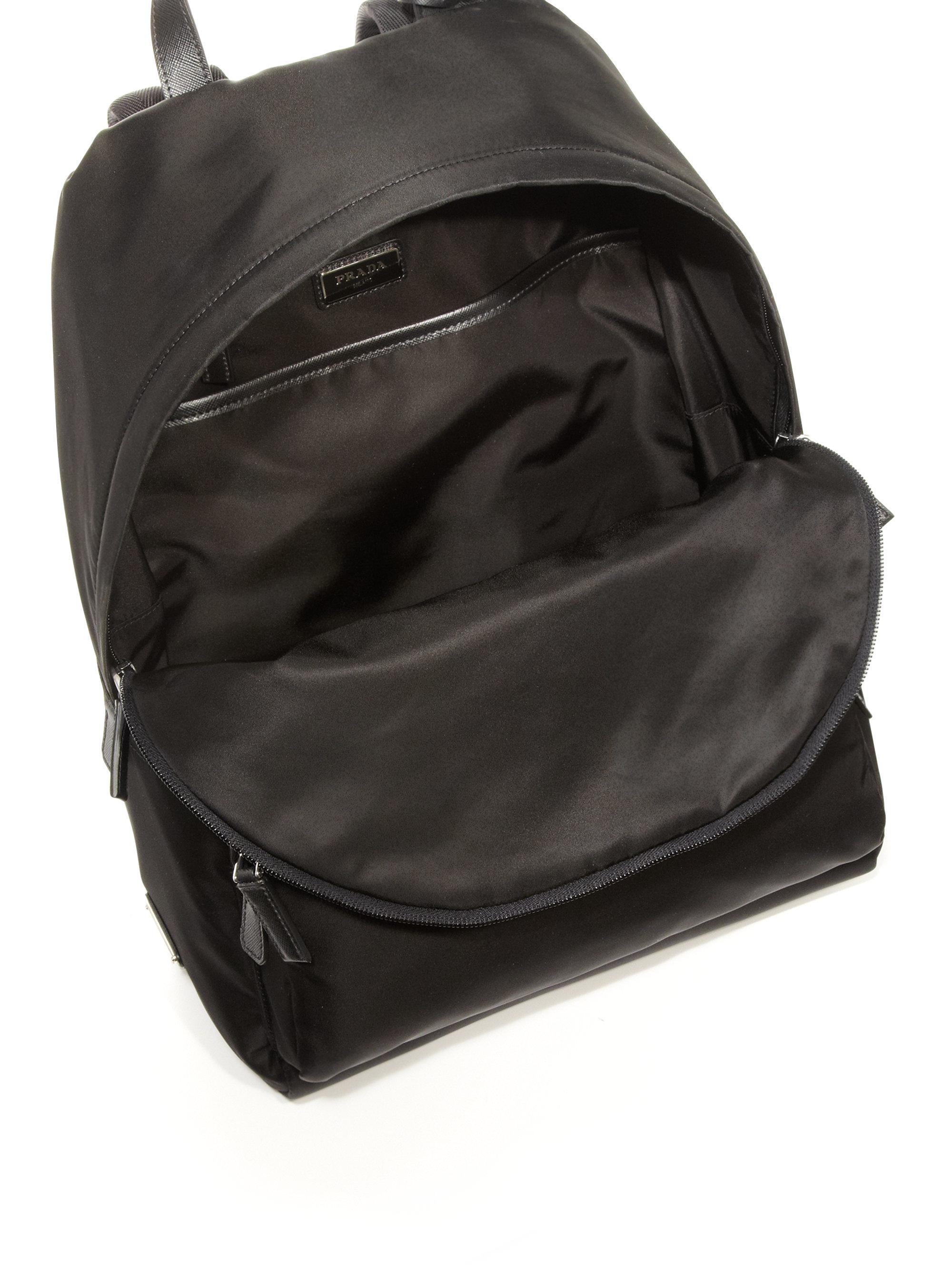 902294b19c4193 ... australia lyst prada zaino backpack in black for men ccd7d 5d8e4