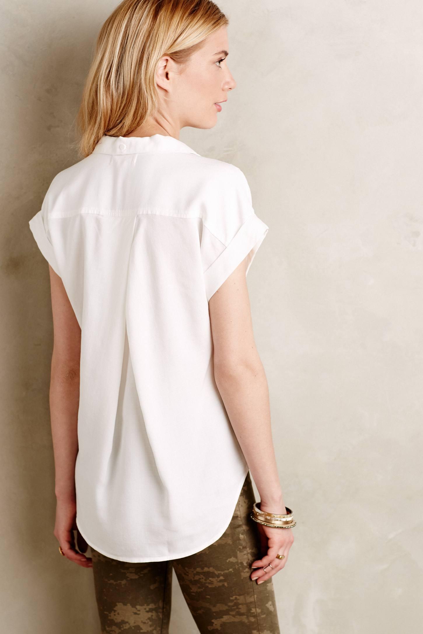 Cloth Amp Stone Celestine Buttondown In White Lyst