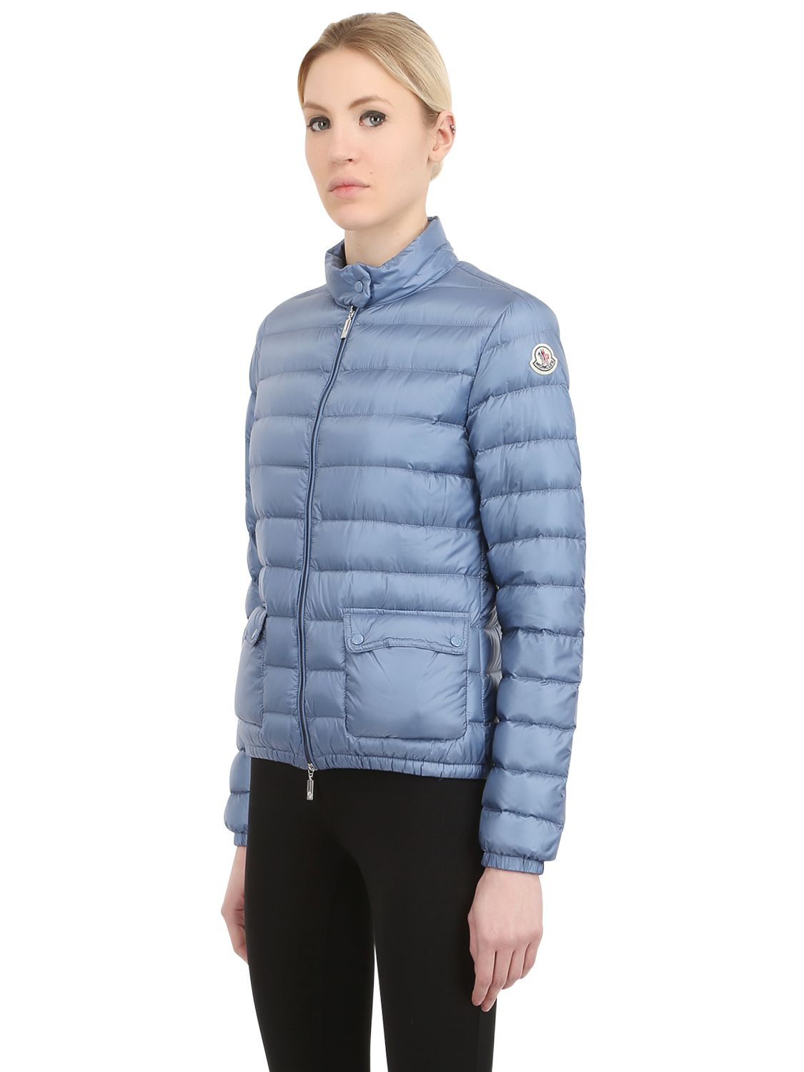 moncler 39 lans 39 padded jacket in blue lyst. Black Bedroom Furniture Sets. Home Design Ideas