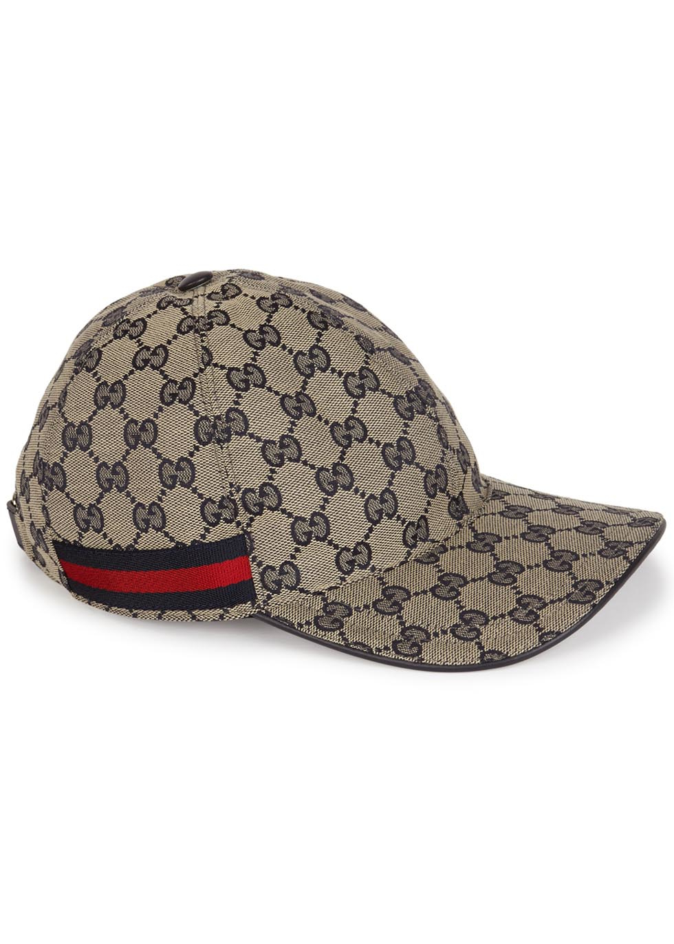 2d62281c2b3 Gucci Gg Sand Monogrammed Canvas Cap in Blue - Lyst