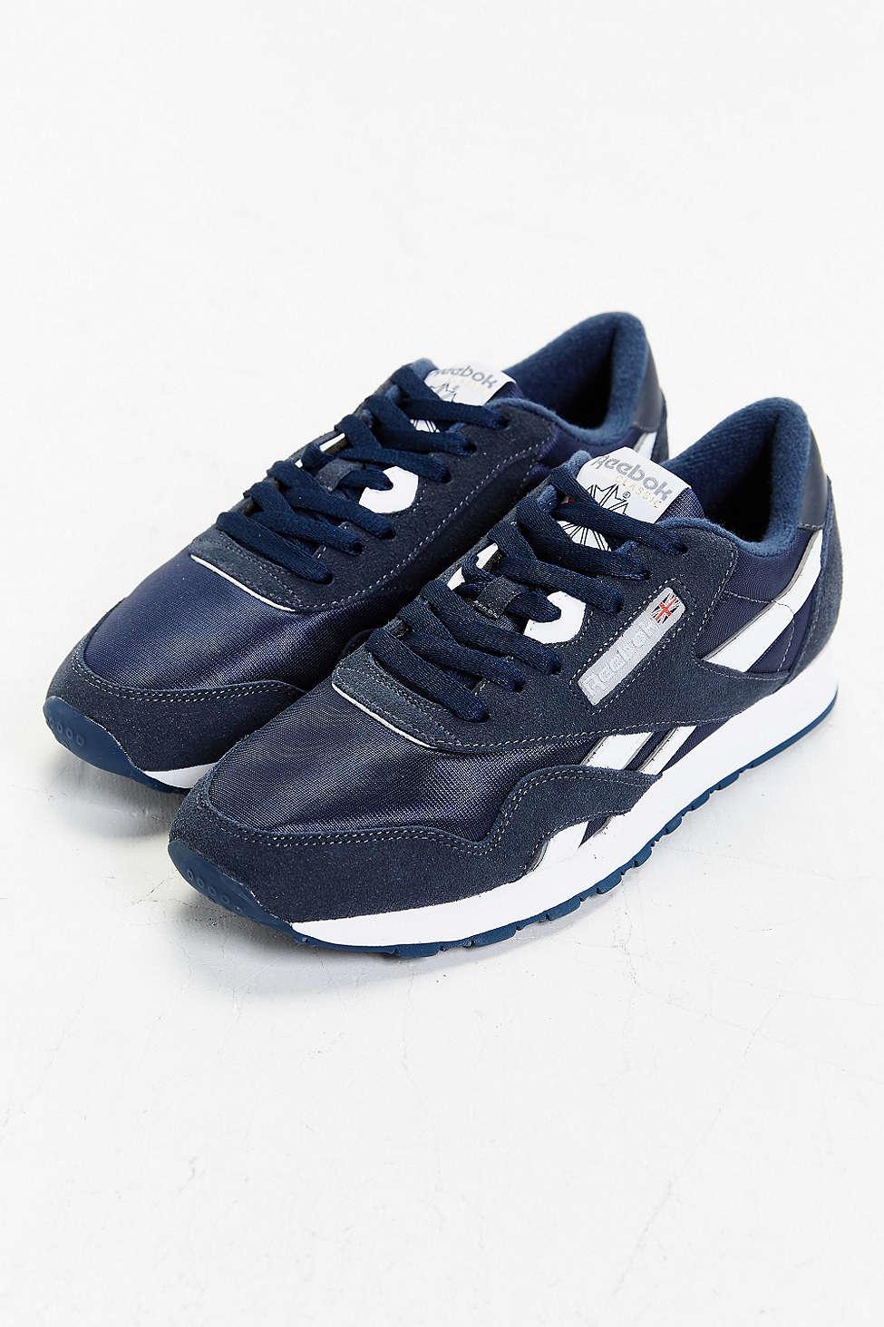 Lyst - Reebok Classic Nylon Sneaker in Blue for Men 9262b76a3