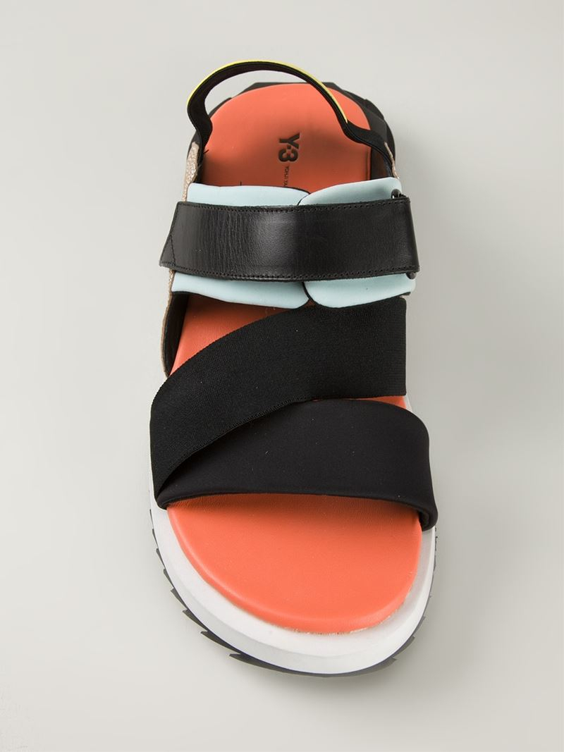 9bdf4ed11 Y-3  Kaohe  Sandals in Black for Men - Lyst