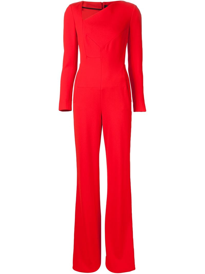 d9e4dd384cad Lyst - Roland Mouret  herring  Jumpsuit in Red