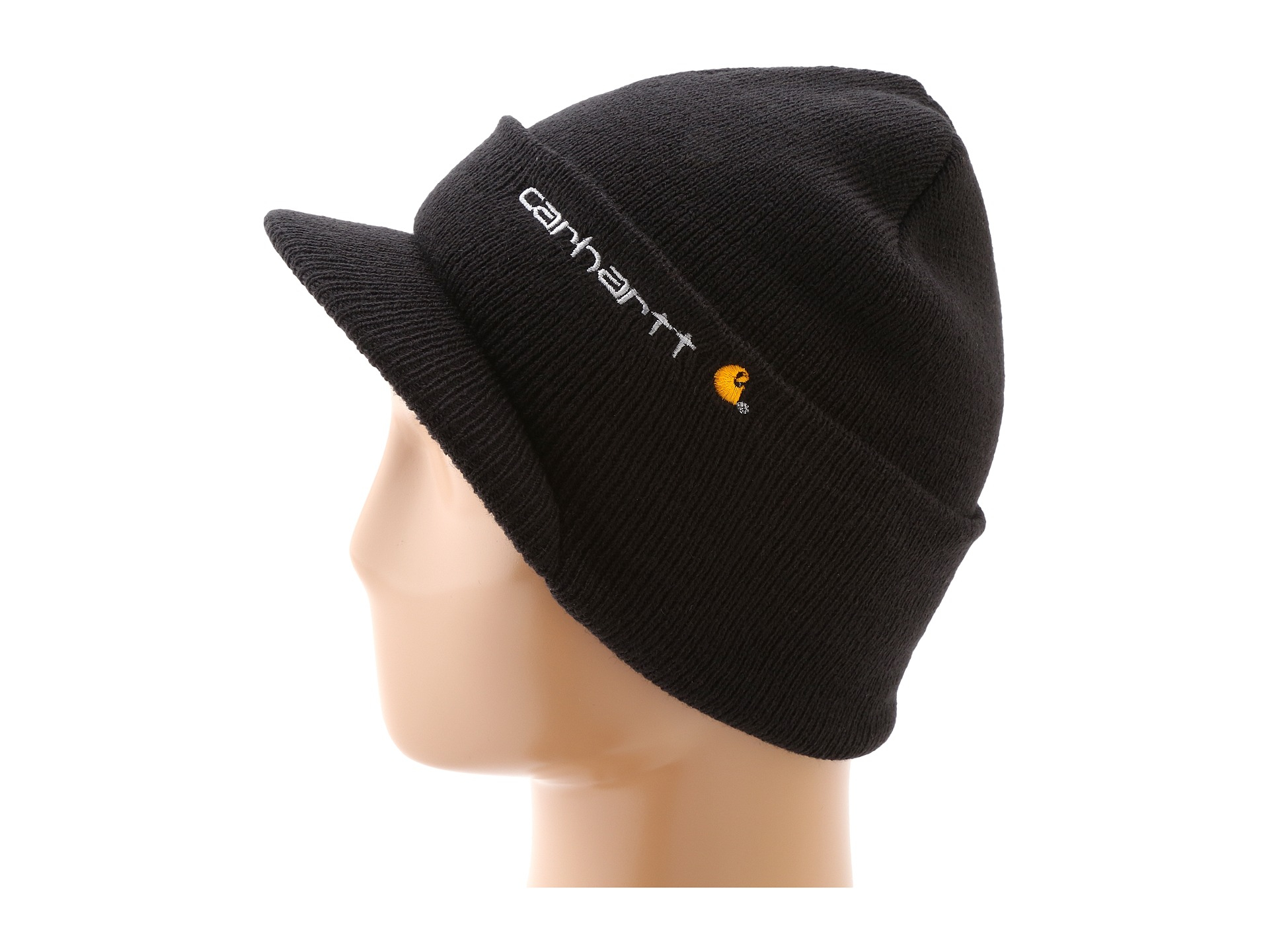 Lyst - Carhartt Knit Hat With Visor in Black for Men f32ceffc5a7