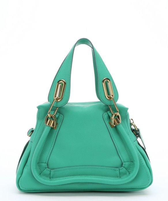 Chlo¨¦ Jade Green Leather Mini \u0026#39;paraty\u0026#39; Convertible Top Handle Bag ...