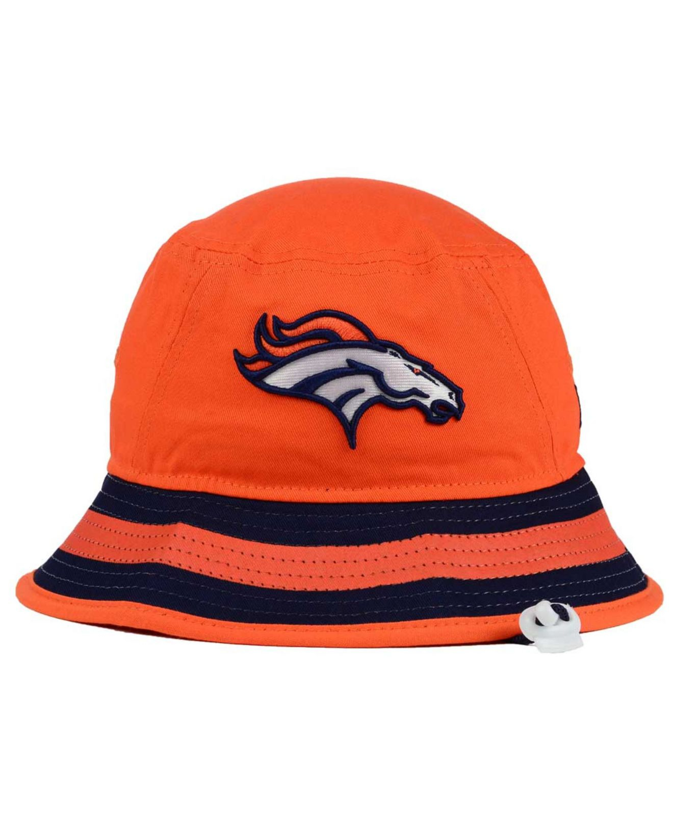 finest selection d0ef3 bf19e ... norway lyst ktz denver broncos team stripe bucket hat in orange for men  21a94 92e41