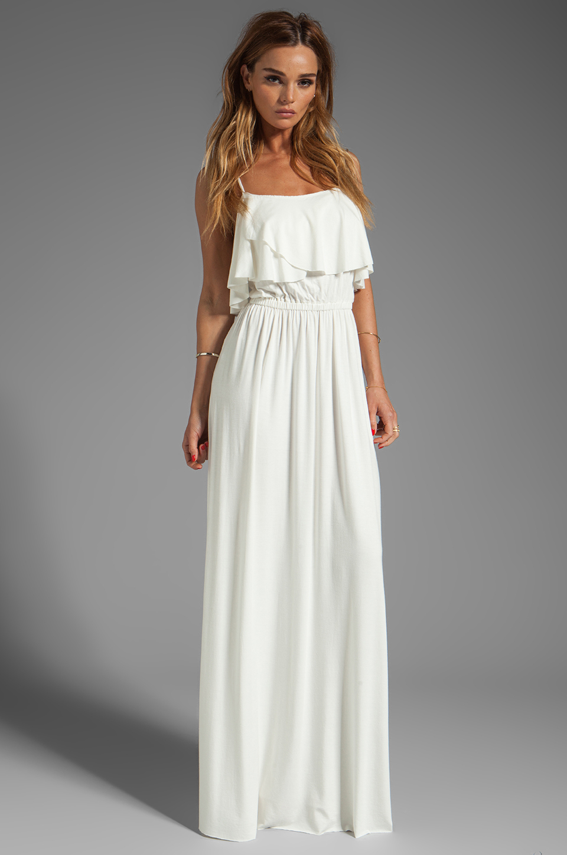 Rachel Pally Cloris Maxi Dress In White In White Lyst