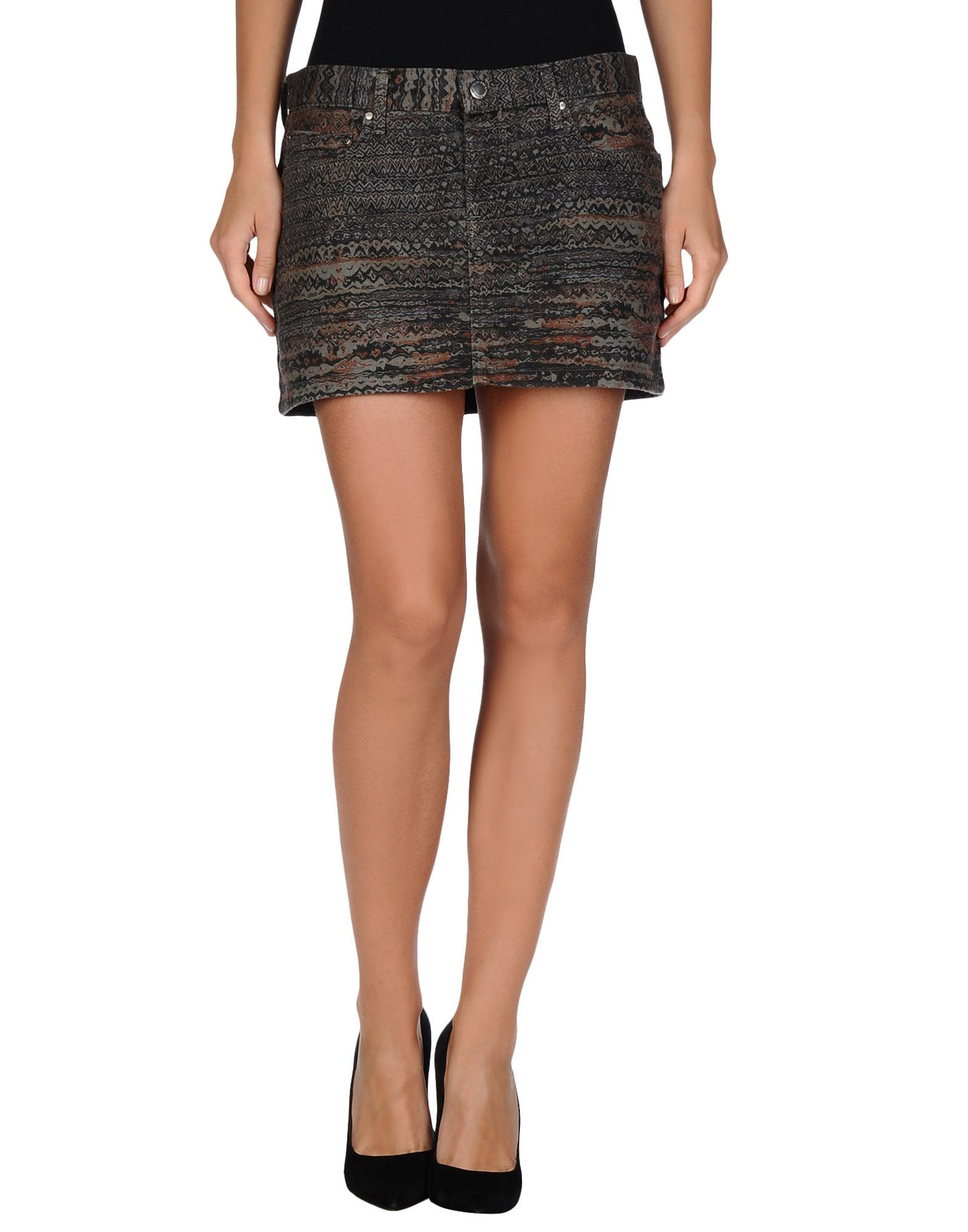 see by chlo 233 denim skirt in gray grey save 57 lyst