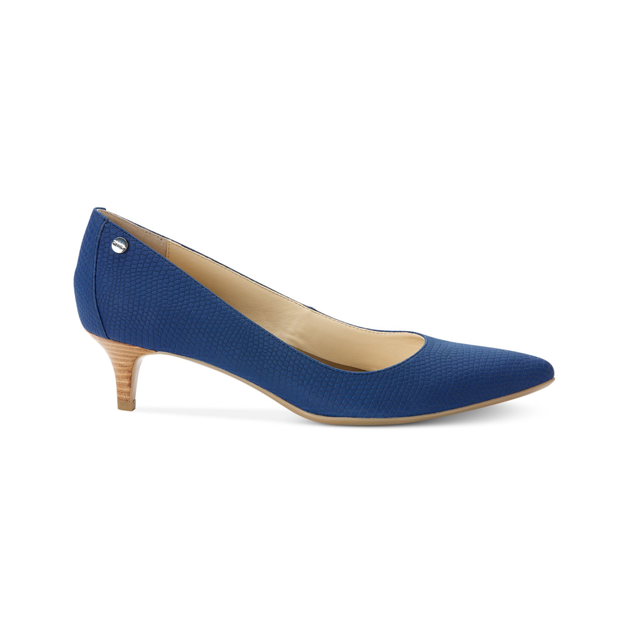 Lyst - Calvin klein Womens Nicki Kitten Heel Pumps in Blue