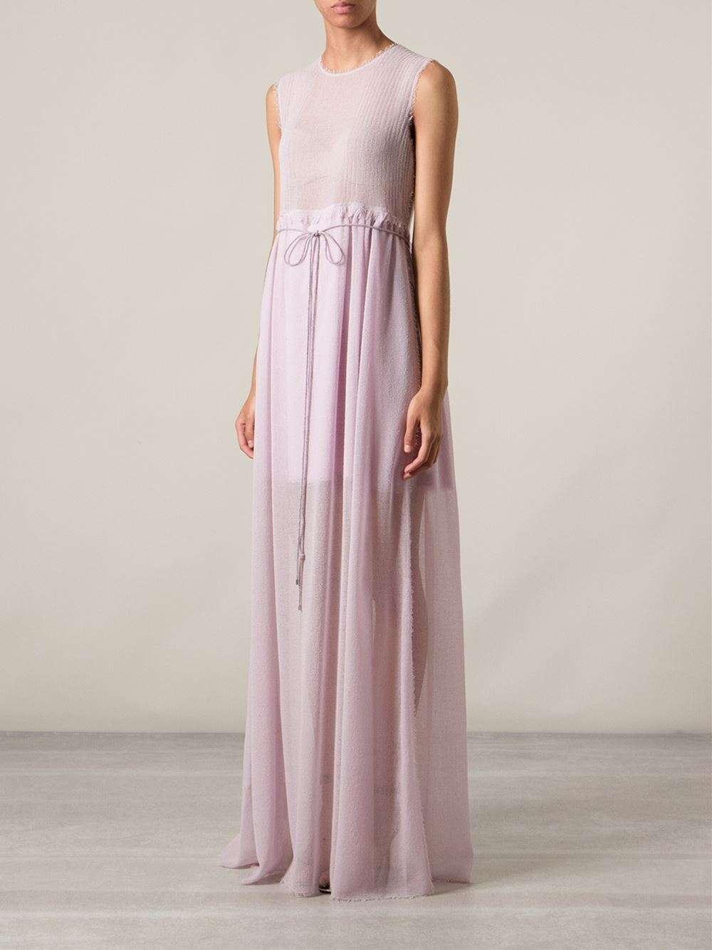 Lyst - Calvin Klein Evening Gown in Purple