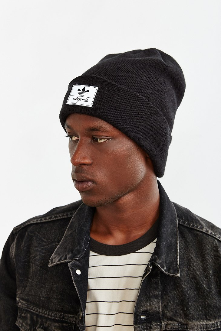 Lyst - adidas Originals Victors Knit Beanie in Black for Men 88d2db23d27