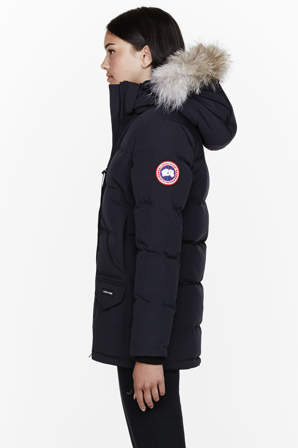 Canada Goose hats sale official - Canada goose Navy Down and Fur Solaris Parka in Blue (navy)   Lyst