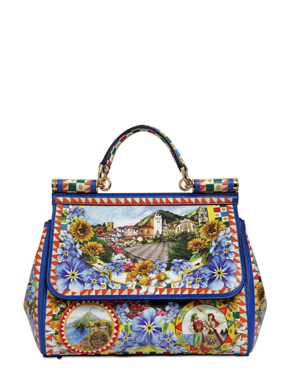 Dolce & Gabbana Sicily Leather Handbag Extremely Official Site Online EA0Ik
