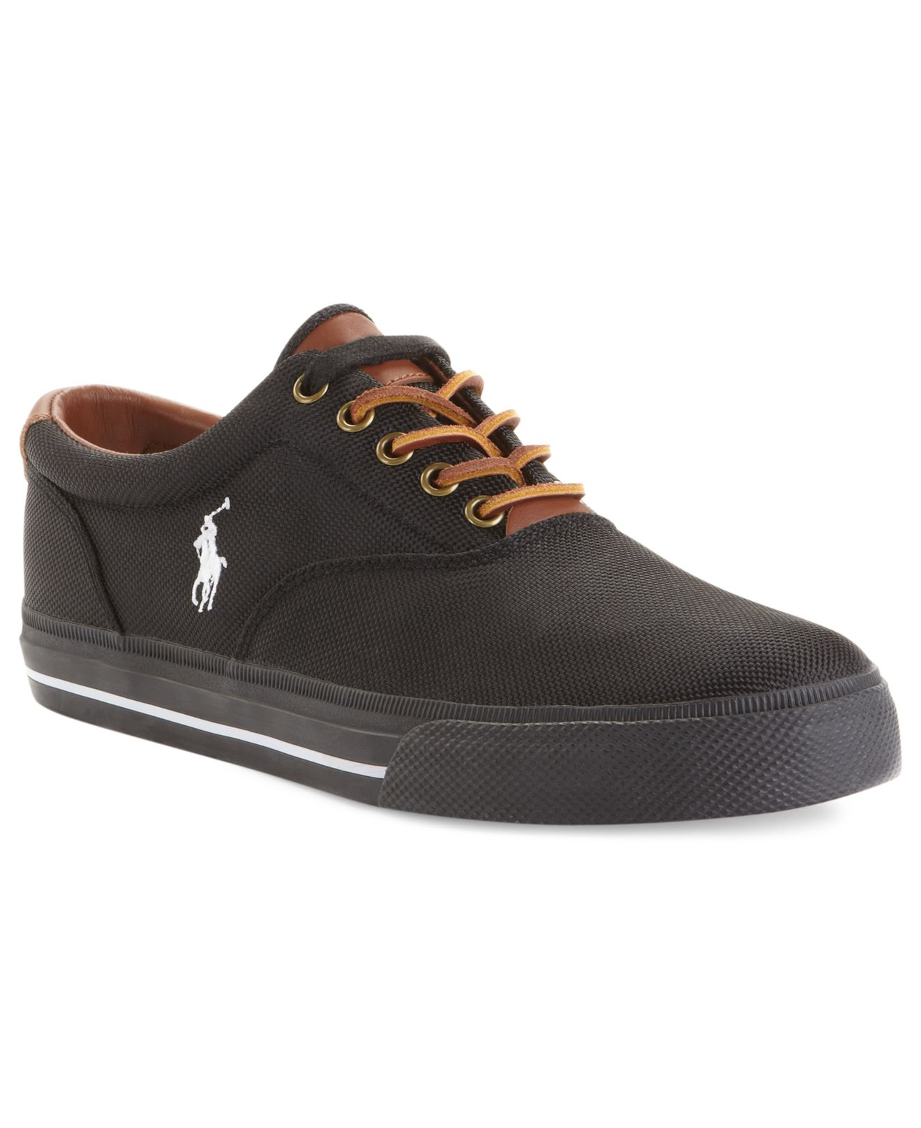 polo ralph vaughn sneakers in black for