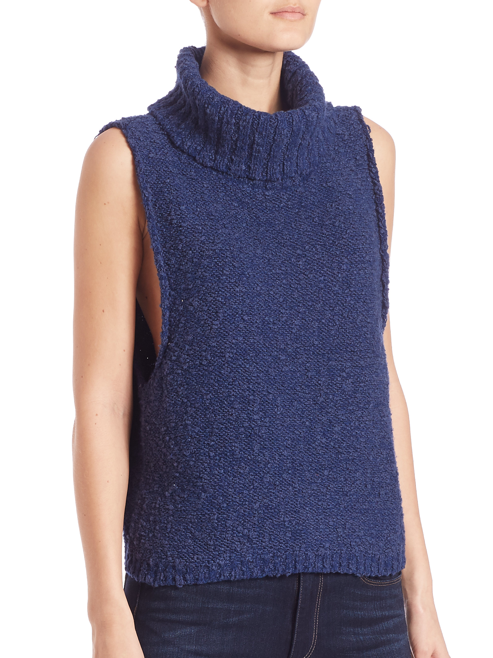 Free people Little White Lies Sweater Vest in Blue | Lyst