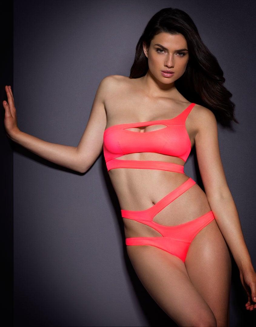6469eb0397 Agent Provocateur Lexxi Bikini Top Coral in Pink - Lyst