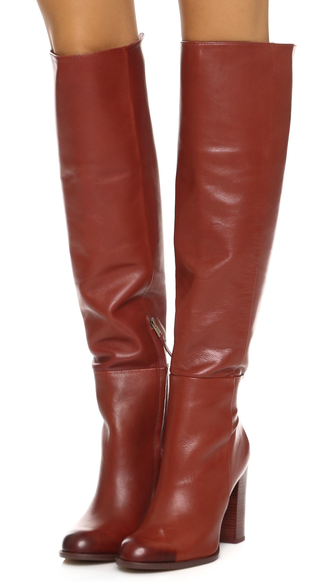 Womens Boots Sam Edelman Rylan Rust Red
