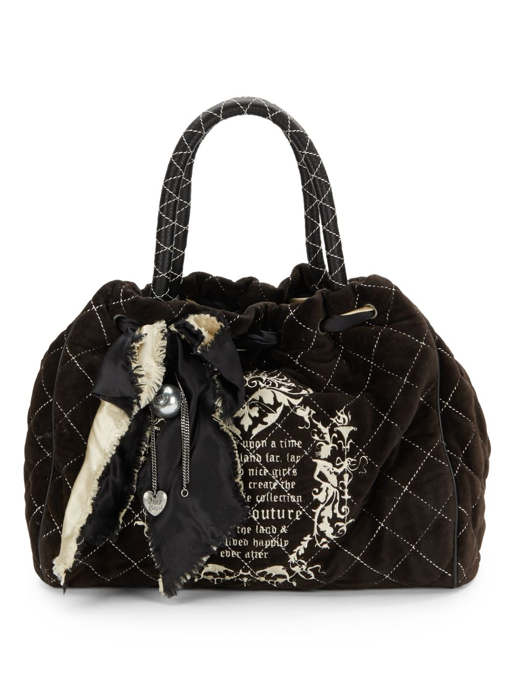 Juicy Couture Velour Daydreamer Bag in Black | Lyst