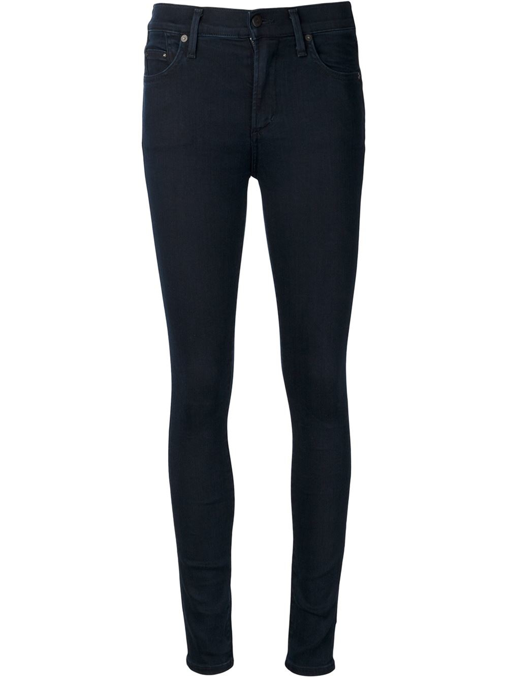 citizens of humanity high waist jeans in blue lyst. Black Bedroom Furniture Sets. Home Design Ideas