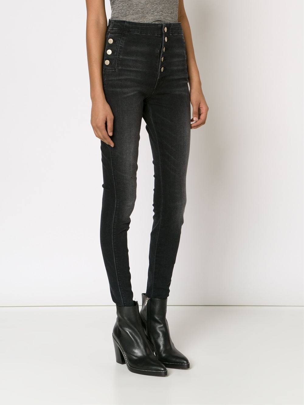 the sale of shoes durable modeling enjoy free shipping J Brand Black High Waisted Skinny Jeans