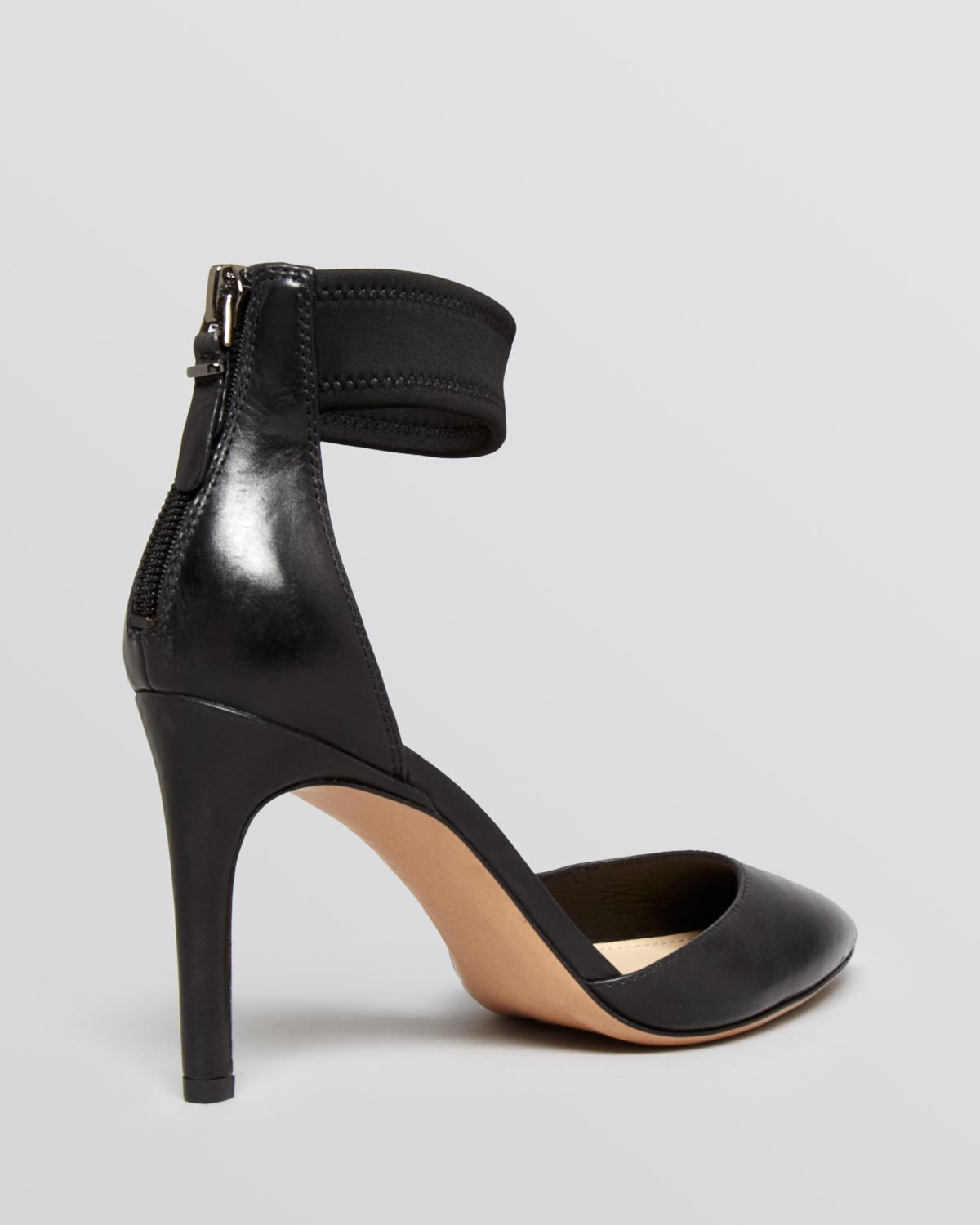 10bf350fa89 Lyst - Via Spiga Pointed Toe Ankle Strap Pumps - Ife High Heel in Black