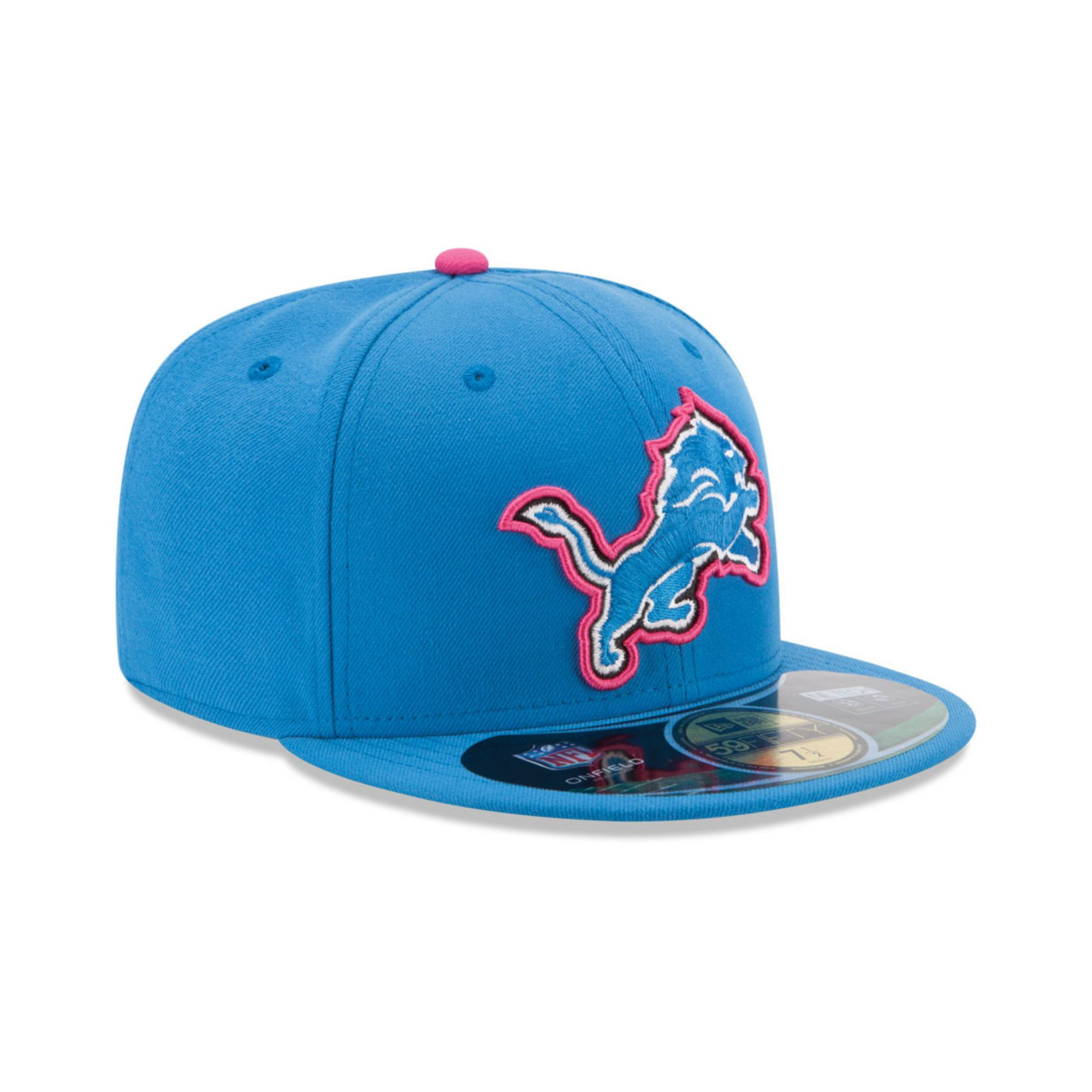 670c2b8c9 ... hat gray e2ea3 e7f4e  canada lyst ktz detroit lions breast cancer  awareness 59fifty cap in blue 42354 671a0