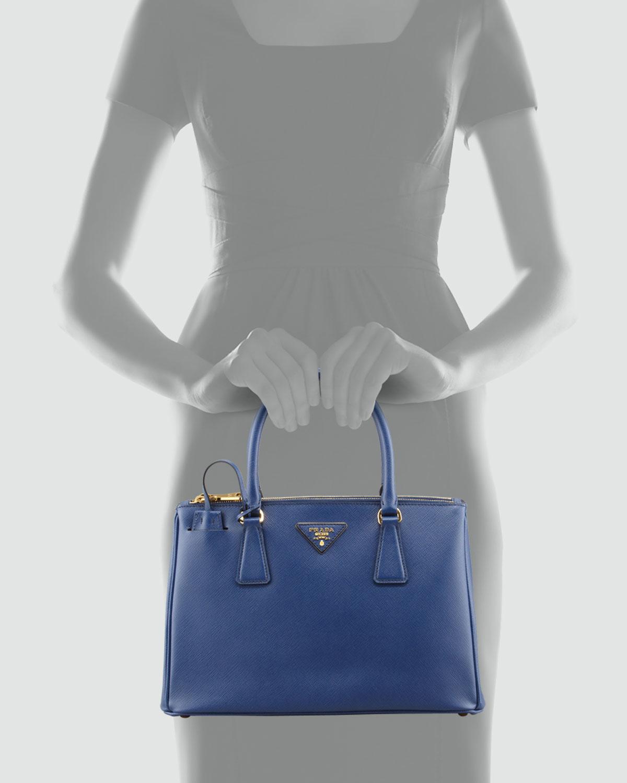 discount prada handbags authentic - Prada Saffiano Small Executive Tote Bag With Strap in Blue (NAVY ...