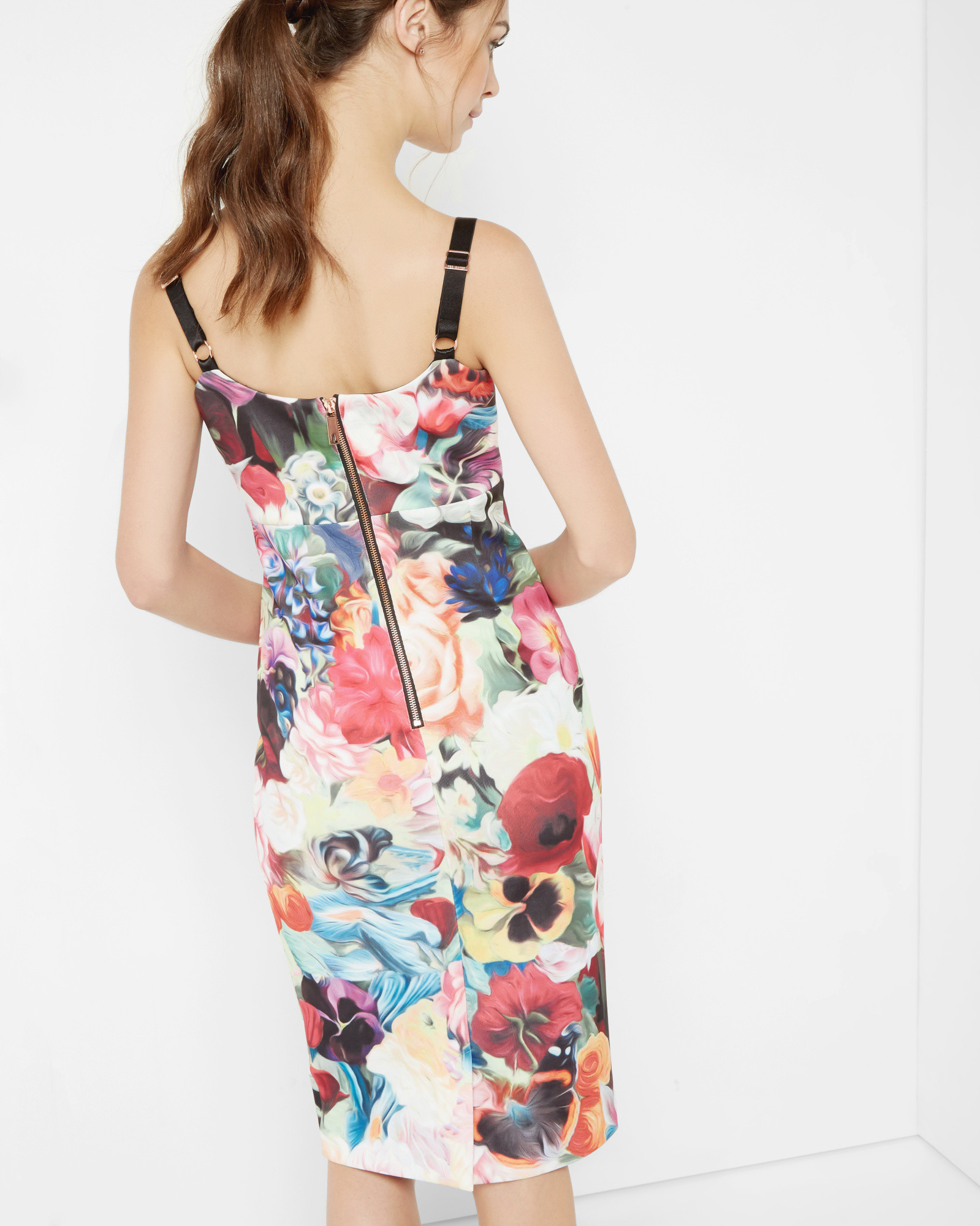 5679cda7cf76d Lyst - Ted Baker Floral Swirl Strappy Dress