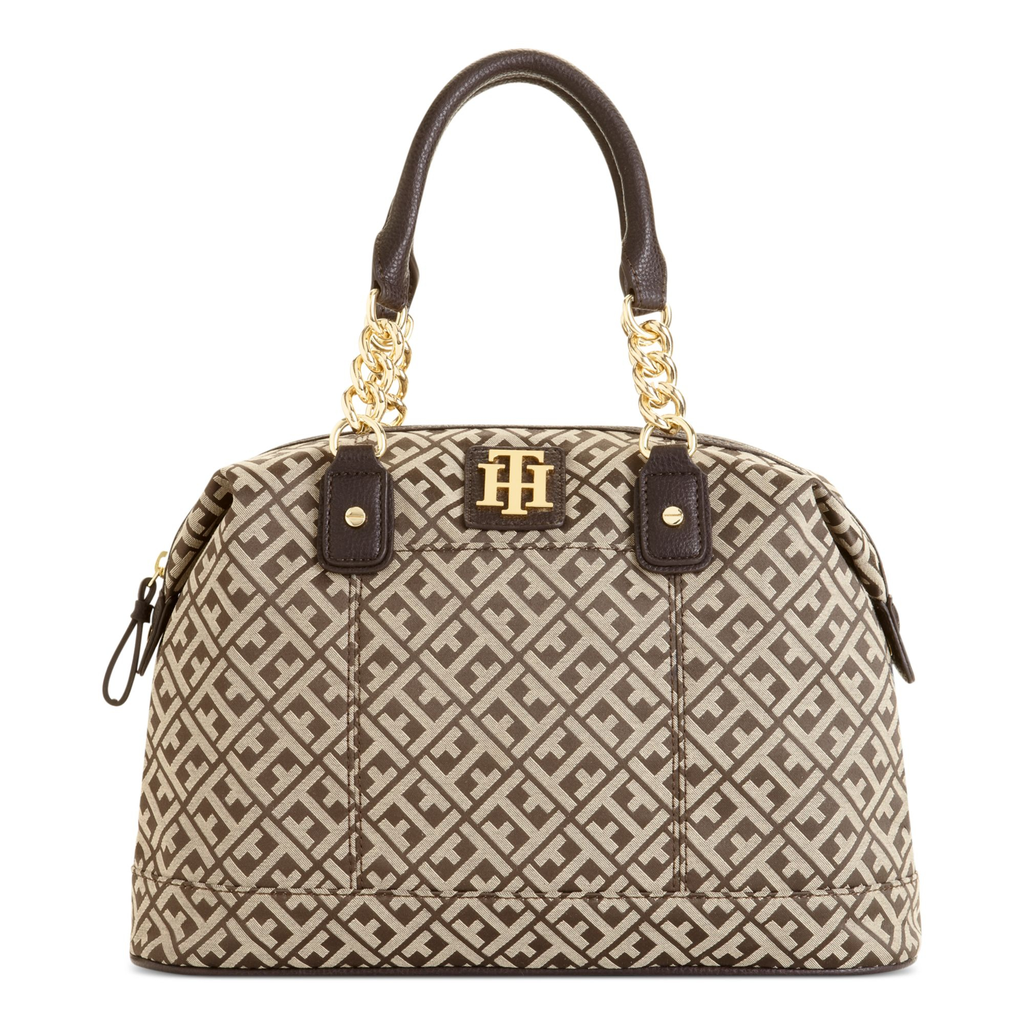 5949f3b56a1 Tommy Hilfiger Bombay Jaquard Bowler Bag in Brown - Lyst