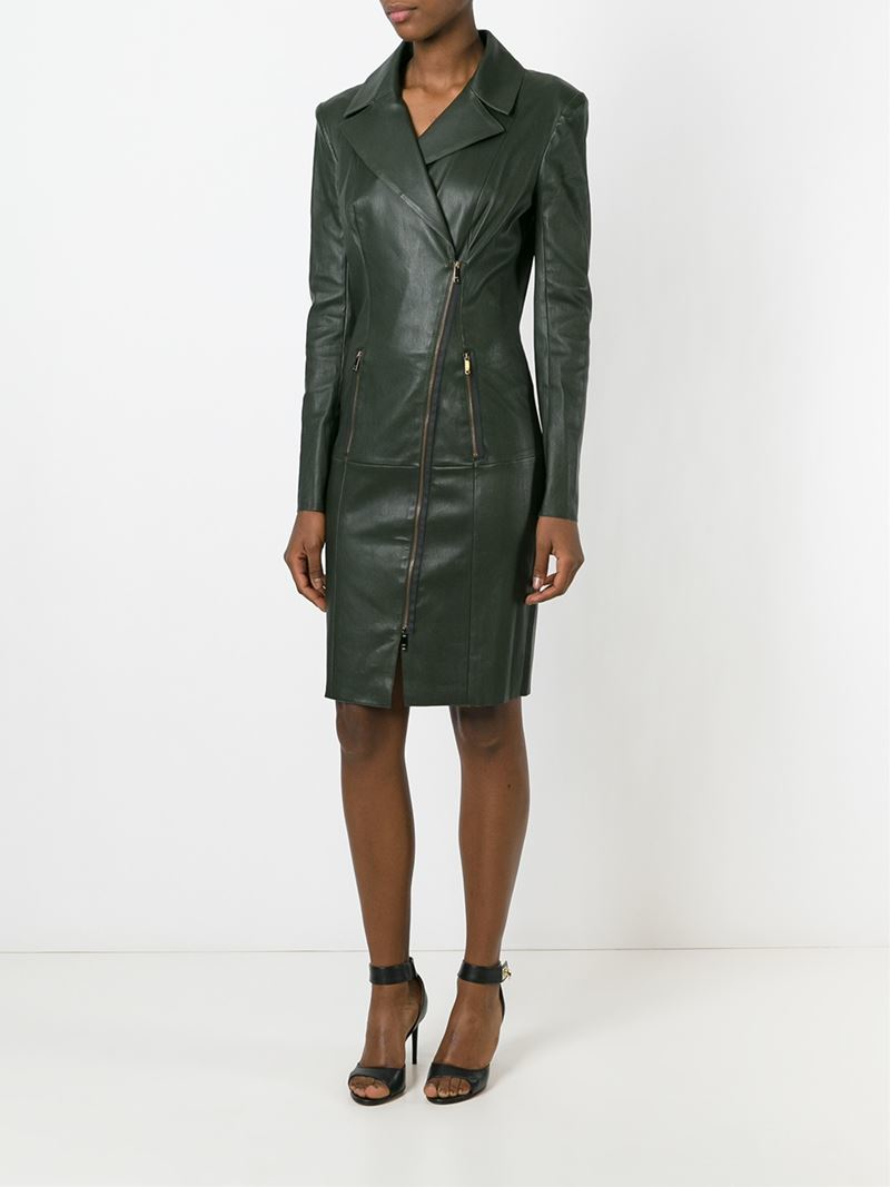 Lyst Jitrois Leather Dress In Green