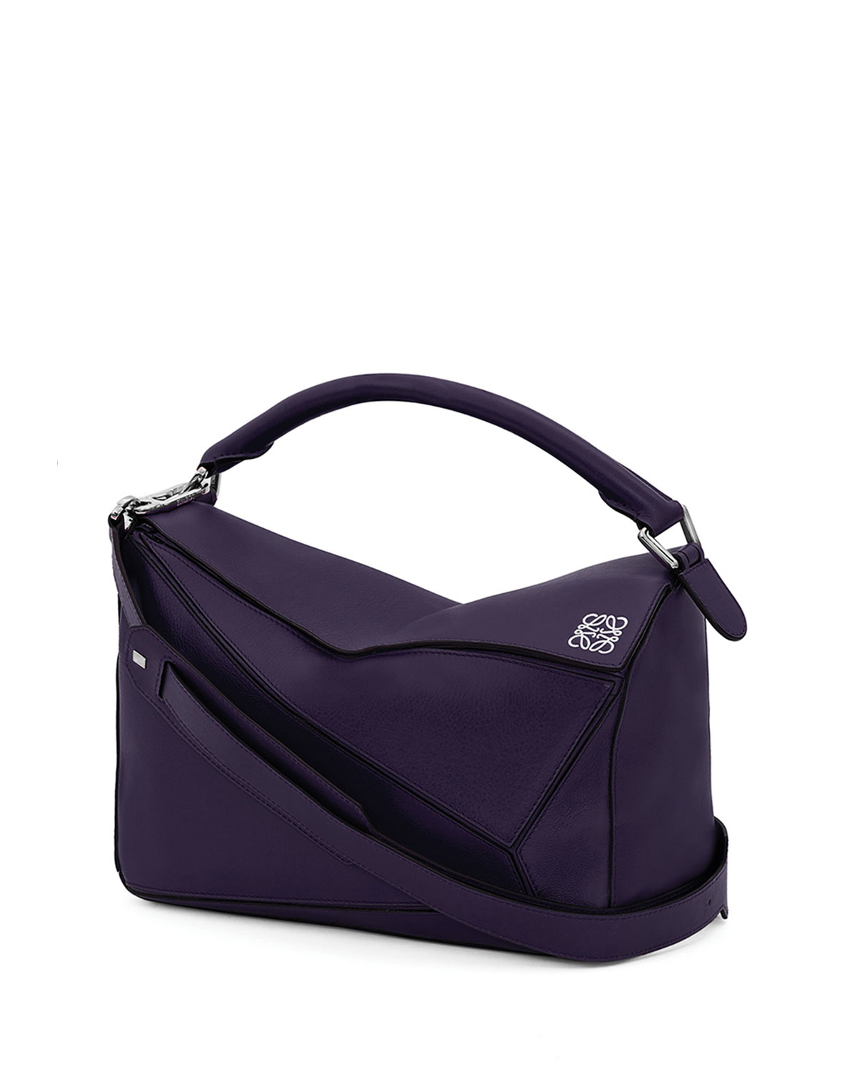 Loewe Puzzle Small Satchel Bag in Purple | Lyst