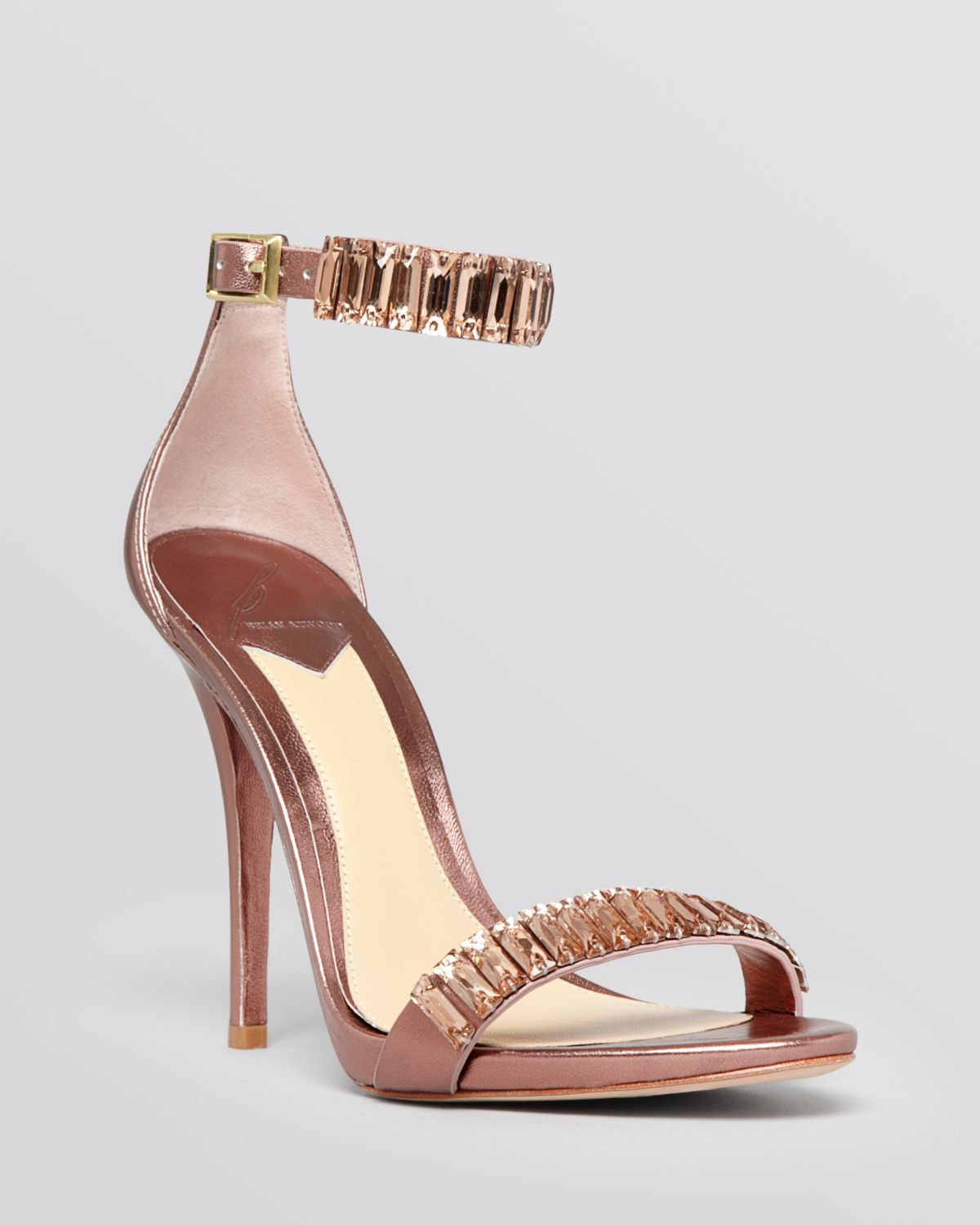 B brian atwood Open Toe Sandals - Ciara Beaded High Heel in Pink ...
