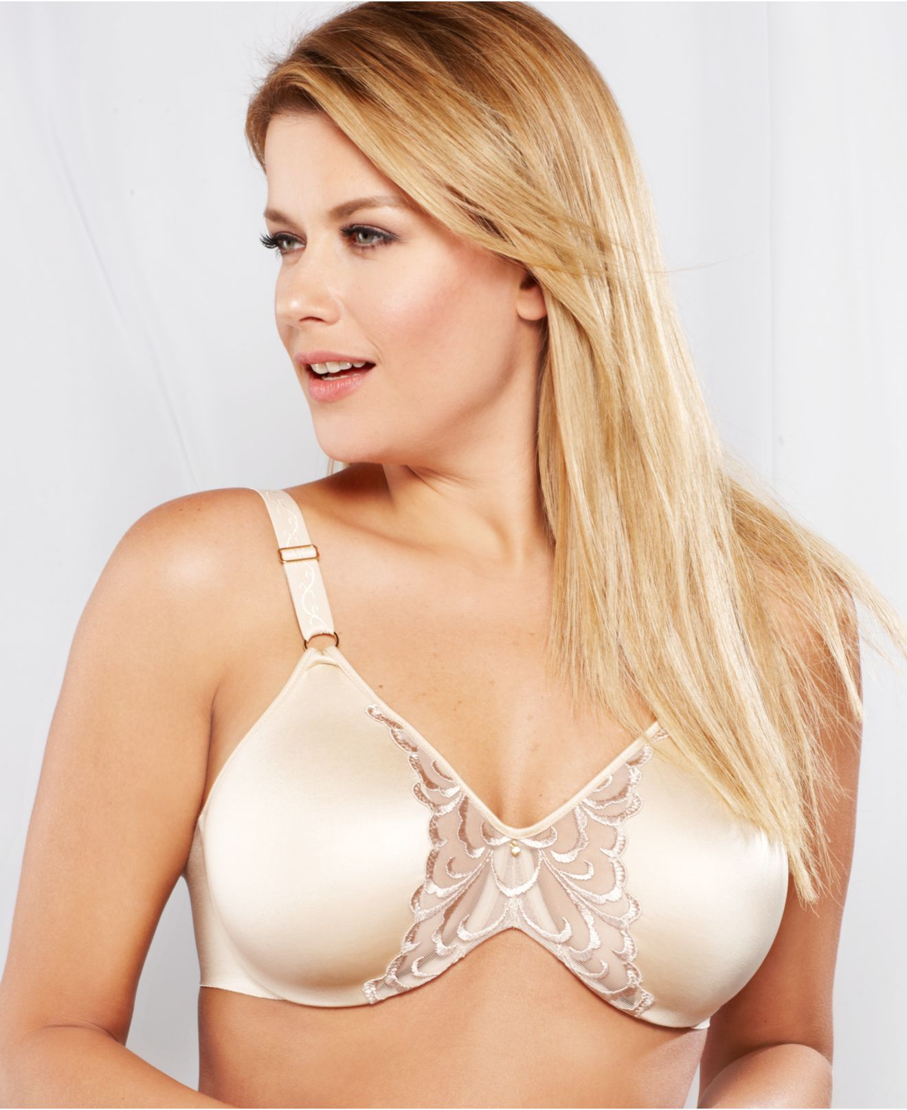 Lilyette By Bali Magnificent Beauty Embellished Minimizer Bra 481 ...