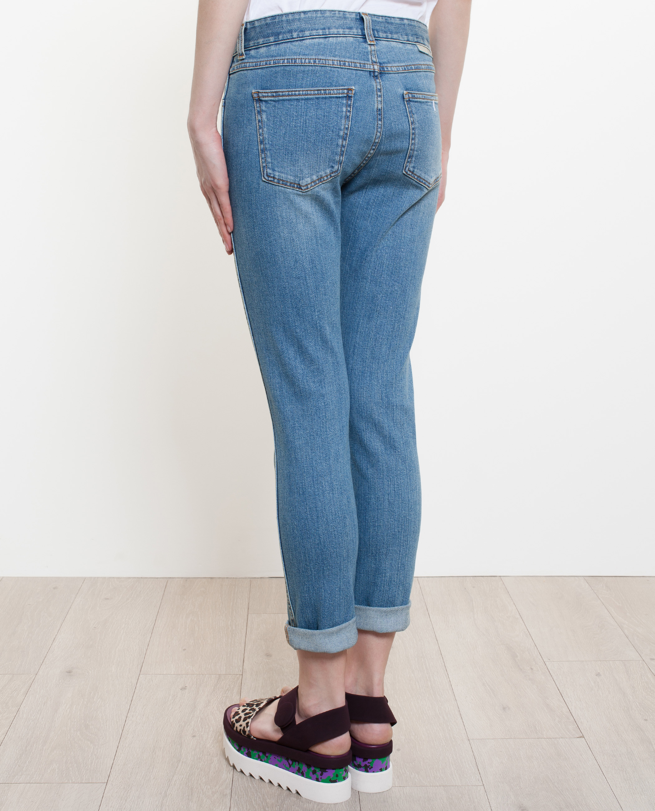 Stella mccartney Skinny Boyfriend Jeans in Blue | Lyst