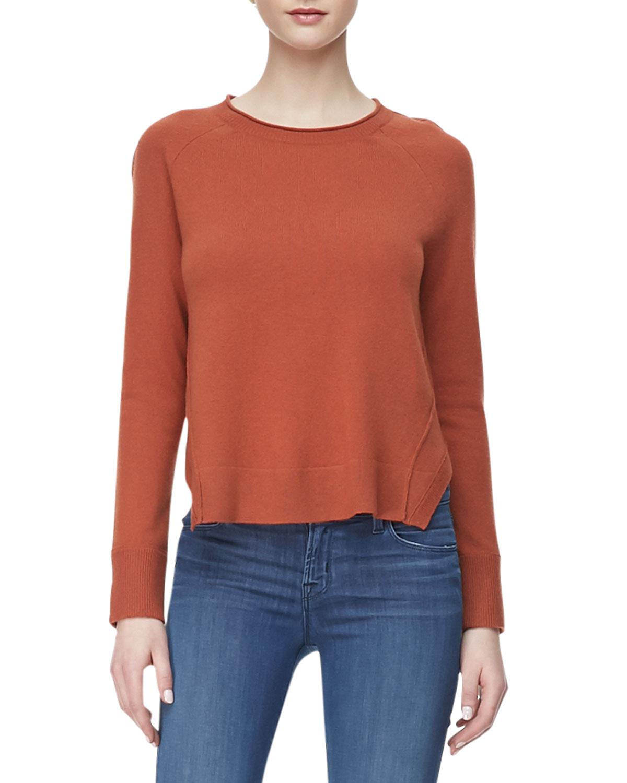 J brand Eugenia Crewneck Cashmere Sweater in Brown   Lyst