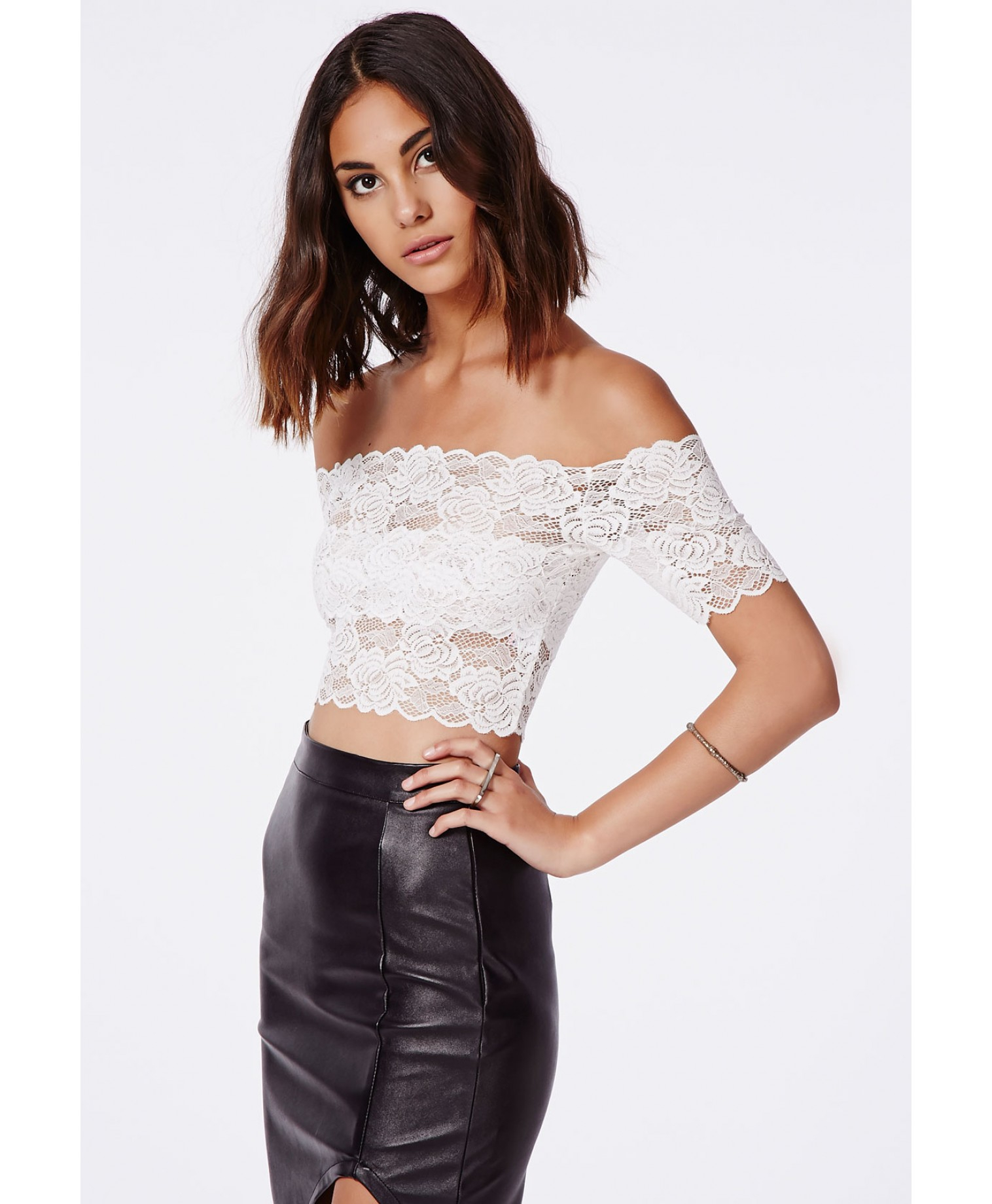 Missguided Lace Crop Top Shopping Online Clearance Sale Online Store MmNvx