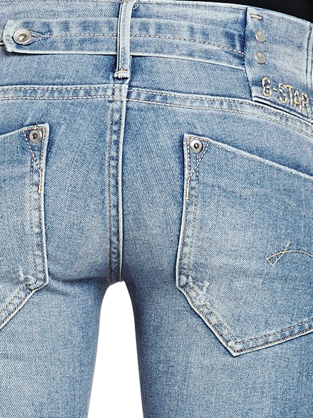 g star raw midge straight leg jeans in blue medium aged. Black Bedroom Furniture Sets. Home Design Ideas