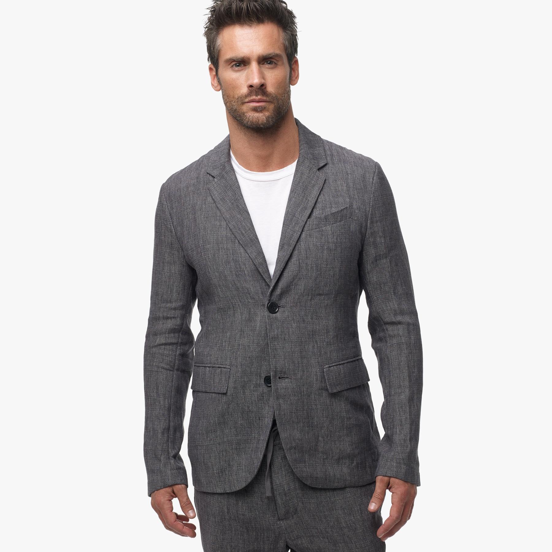 James perse Delave Linen Blazer in Gray for Men | Lyst