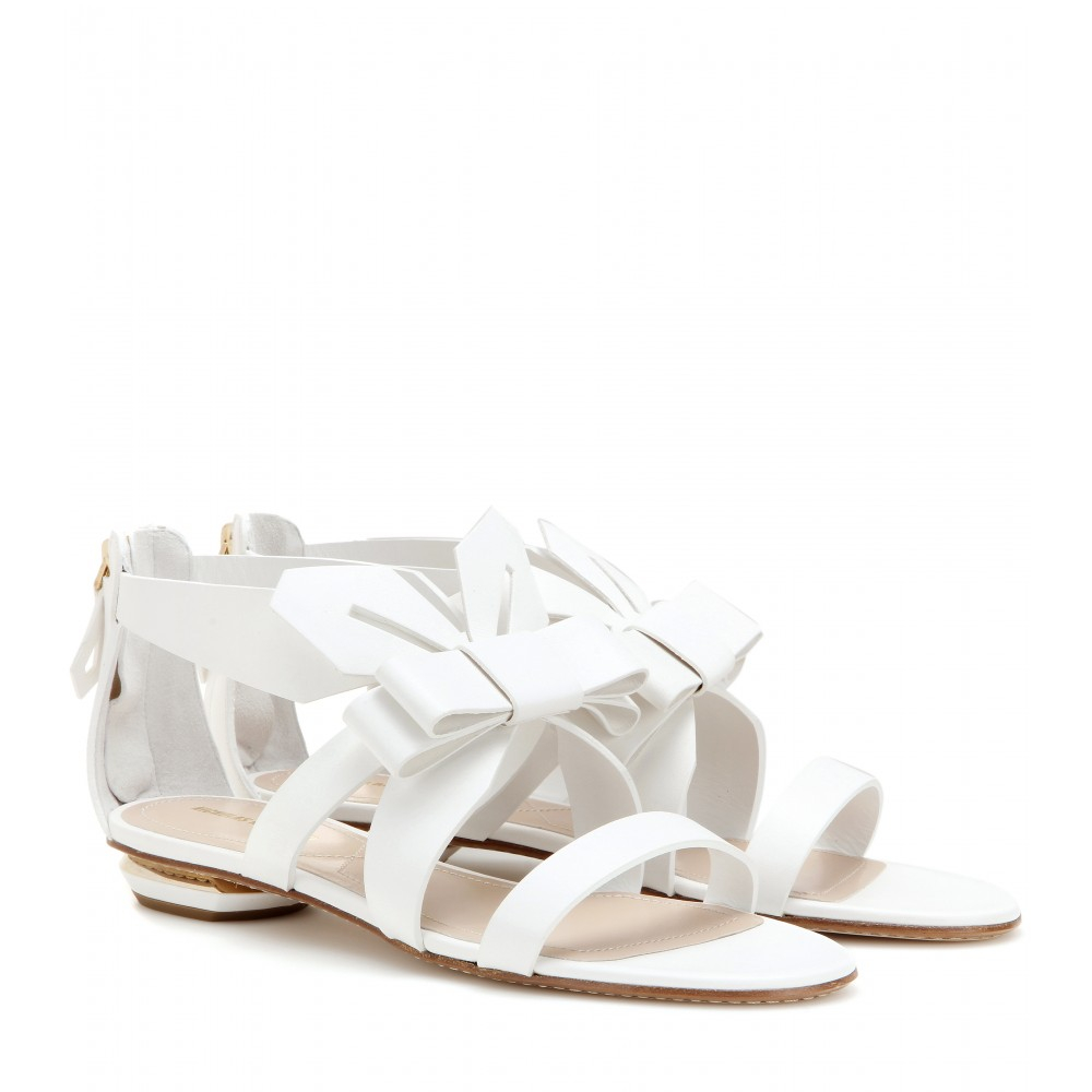 fe266c8554e9a9 Lyst - Nicholas Kirkwood Origami Leather Sandals in White
