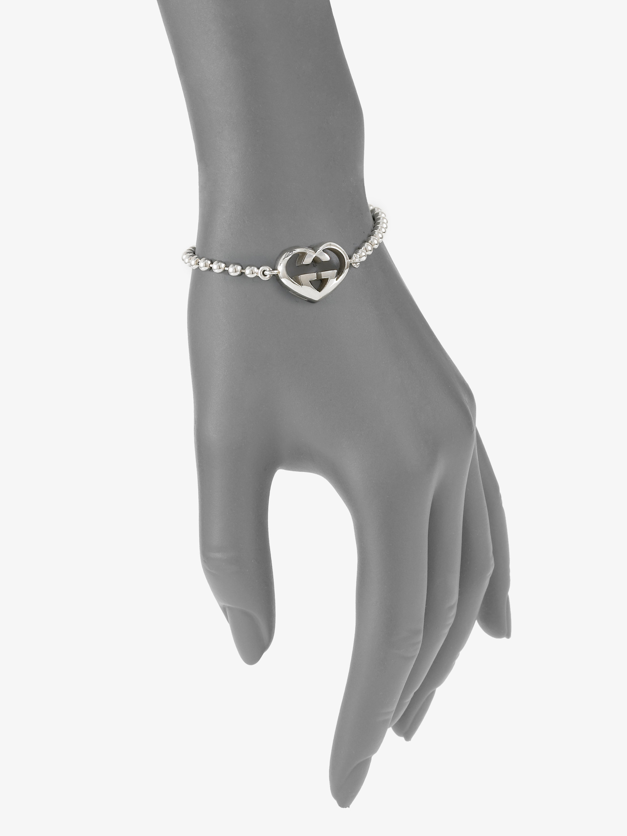 c579f77d6 Gucci Sterling Silver Love Britt Bracelet in Metallic - Lyst