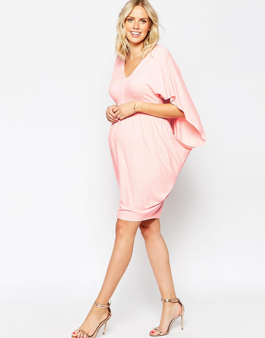Bodycon maternity dresses good dresses lyst asos kimono drape bodycon dress in pink gallery womens kimono dresses ombrellifo images asos ombrellifo Images