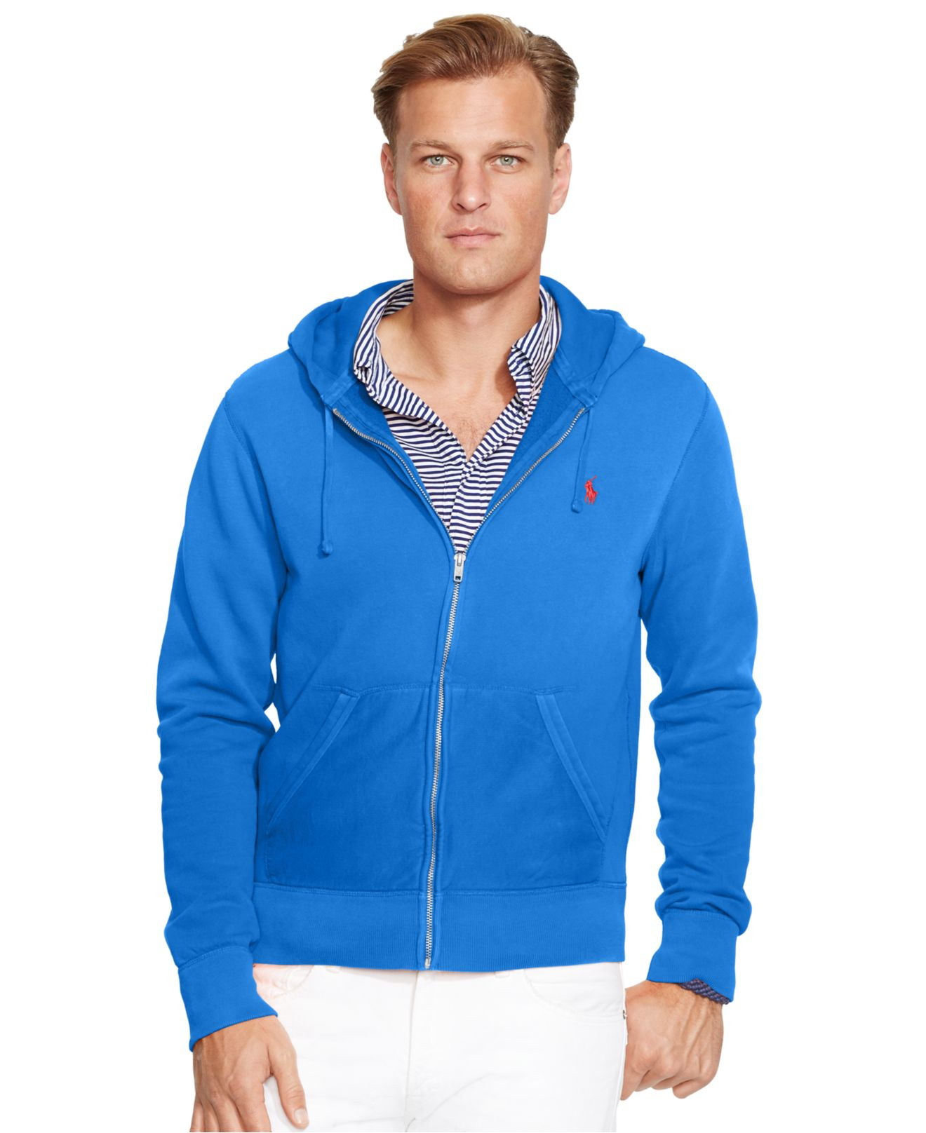 Polo Ralph Lauren Big And Tall Full Zip Fleece Hoodie In