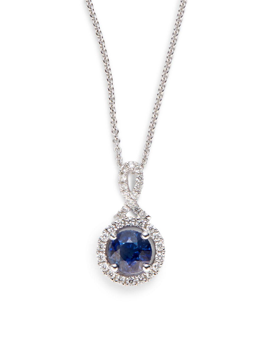 Saks fifth avenue Blue Topaz, Diamond & 14K White Gold ...