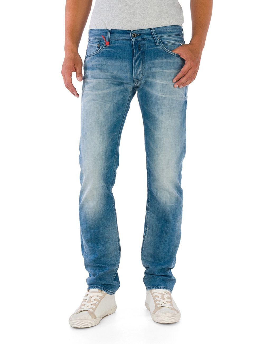 replay lenrick regular slim fit denim jeans in blue for men lyst. Black Bedroom Furniture Sets. Home Design Ideas