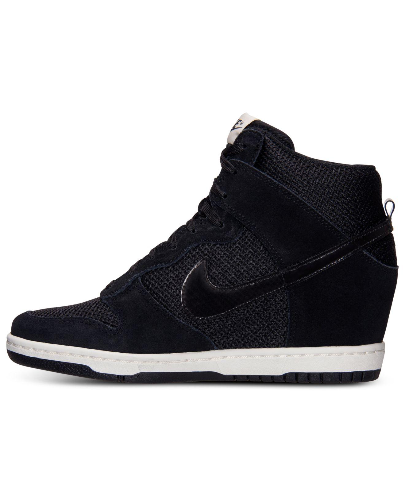 5b65cf5cff96 Lyst - Nike Women S Dunk Sky Hi Essential Casual Sneakers From ...